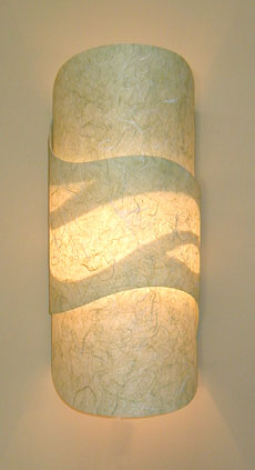Handmade Paper Wall Sconces From Ambientart Com
