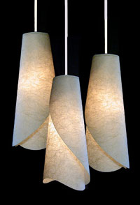 Custom Handmade Paper Lamps Wall Sconces From AmbientArt
